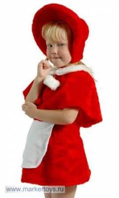 Выкройка детского костюма красной шапочки.