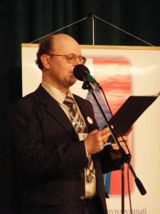 Выступление на юмористическом концерте, Прага, 12-е апреля 2009 года
